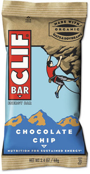 Picture of item CBC-160004 a CLIF® Bar Energy Bar, Chocolate Chip, 2.4oz, 12/Box