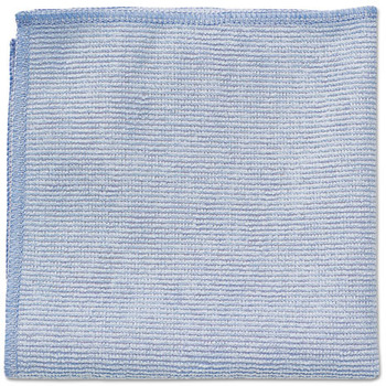 Rubbermaid® Commercial Microfiber Cleaning Cloths, 12 x 12, Blue, 24/Pack