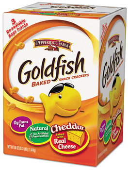 Picture of item PPF-827562 a Pepperidge Farm® Goldfish® Crackers, Baked Cheddar, 58 oz Resealable Bag in Box