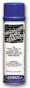 Picture of item 601-303 a Vandal Police.  Graffiti Remover.  Removes paint, ink, crayon, lipstick.  16 oz. Aerosol.