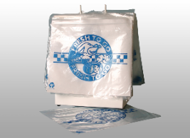 Picture of item 321-405 a DELI BAG 10X8 SEAL TOP PRINTED.  FRESH TO GO: Saddle Style (1C/1S) 1.25 MIL CLEAR REPLACES 321-404.