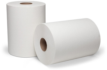 Picture of item 967-887 a DublNature® Controlled Roll Towels. 8 in X 450 ft. White. 12 rolls.