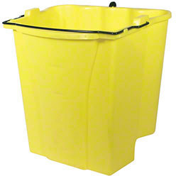 Picture of item 965-076 a Rubbermaid® Commercial Dirty Water Bucket for WaveBrake® Bucket/Wringer, 18qt, Yellow