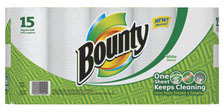 Picture of item 970-737 a Bounty® Roll Towels.  11 X 11 in sheets. White.  780 sheets.