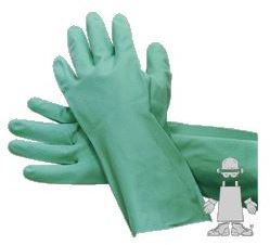 Picture of item 280-334 a Gloves.  Green Nitrile.  Medium Size.  Flocked Lined. 15 Mil. Individually Bagged.